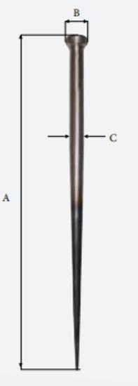 """Merlespiker 14"""" wire 350 mm"""
